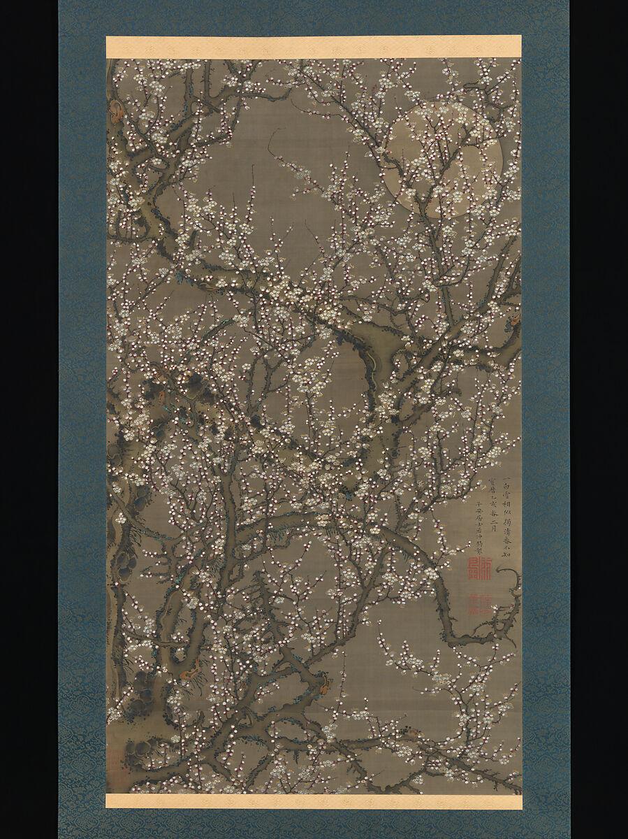 Itō Jakuchū | White Plum Blossoms and Moon | Japan | Edo period (1615–1868) | The Met