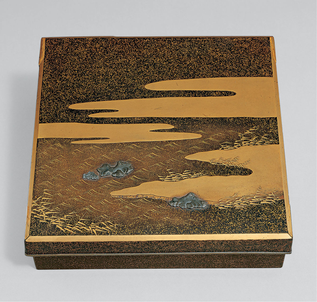 "Writing Box (Suzuribako) with ""Dream in Naniwa"" Design | Japan | Edo period (1615–1868) | The Met"