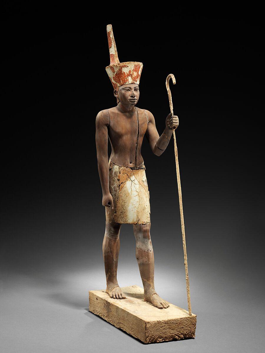 Guardian Figure, Cedar wood, plaster, paint
