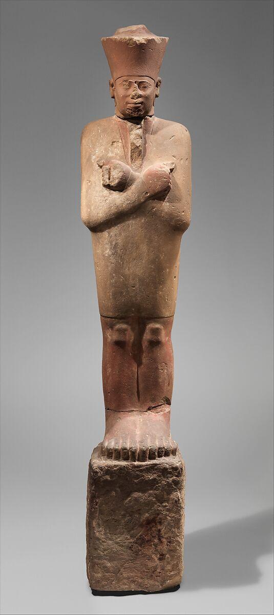 Statue of Nebhepetre Mentuhotep II in the Jubilee Garment, Sandstone, paint
