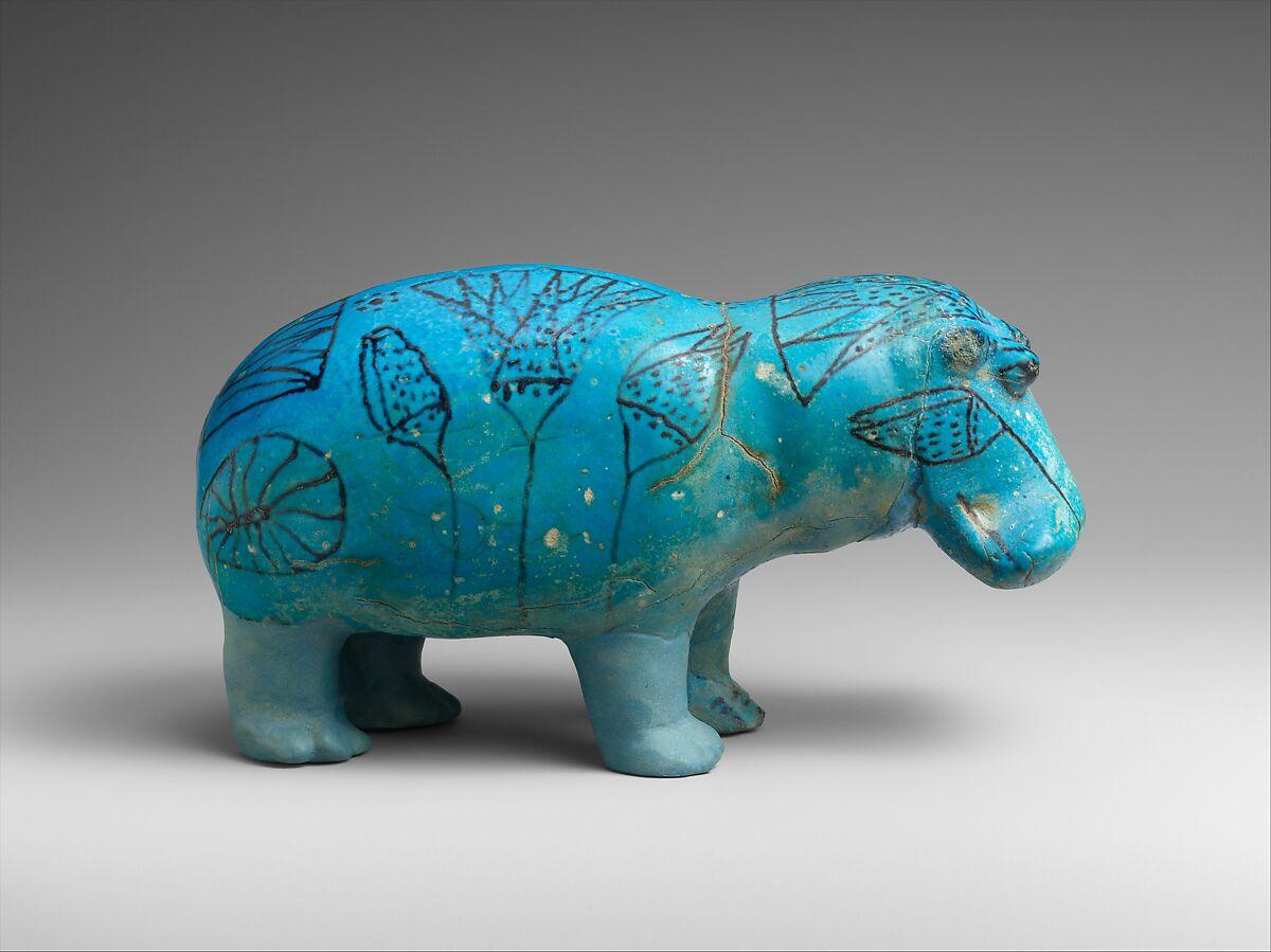 """Hippopotamus (""""William""""), Faience"""