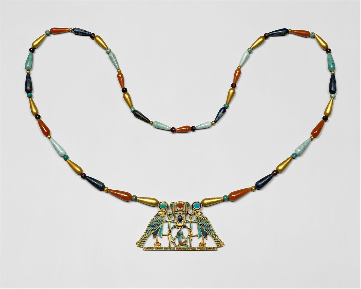 Pectoral And Necklace Of Sithathoryunet With The Name Of Senwosret