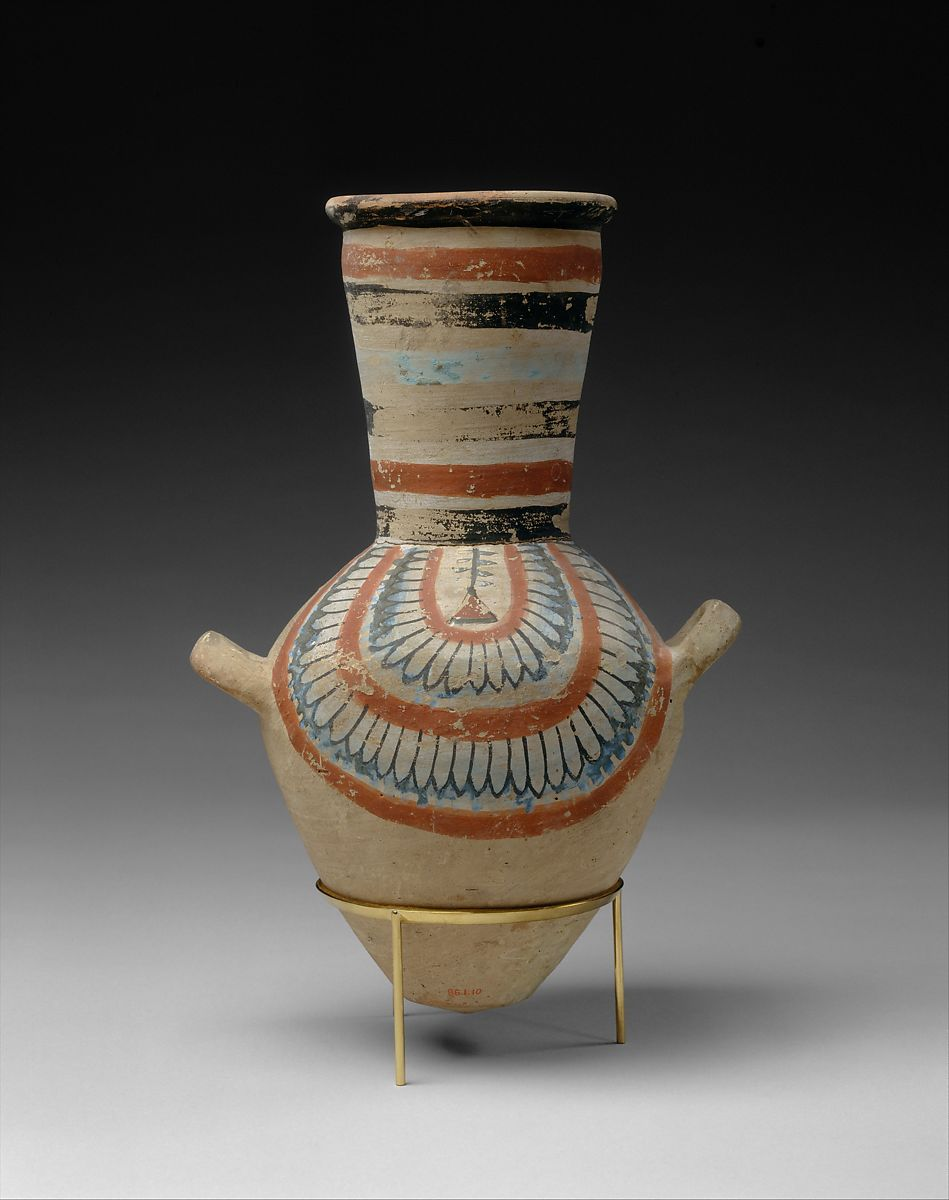 Jar from the tomb of Sennedjem, Painted red pottery