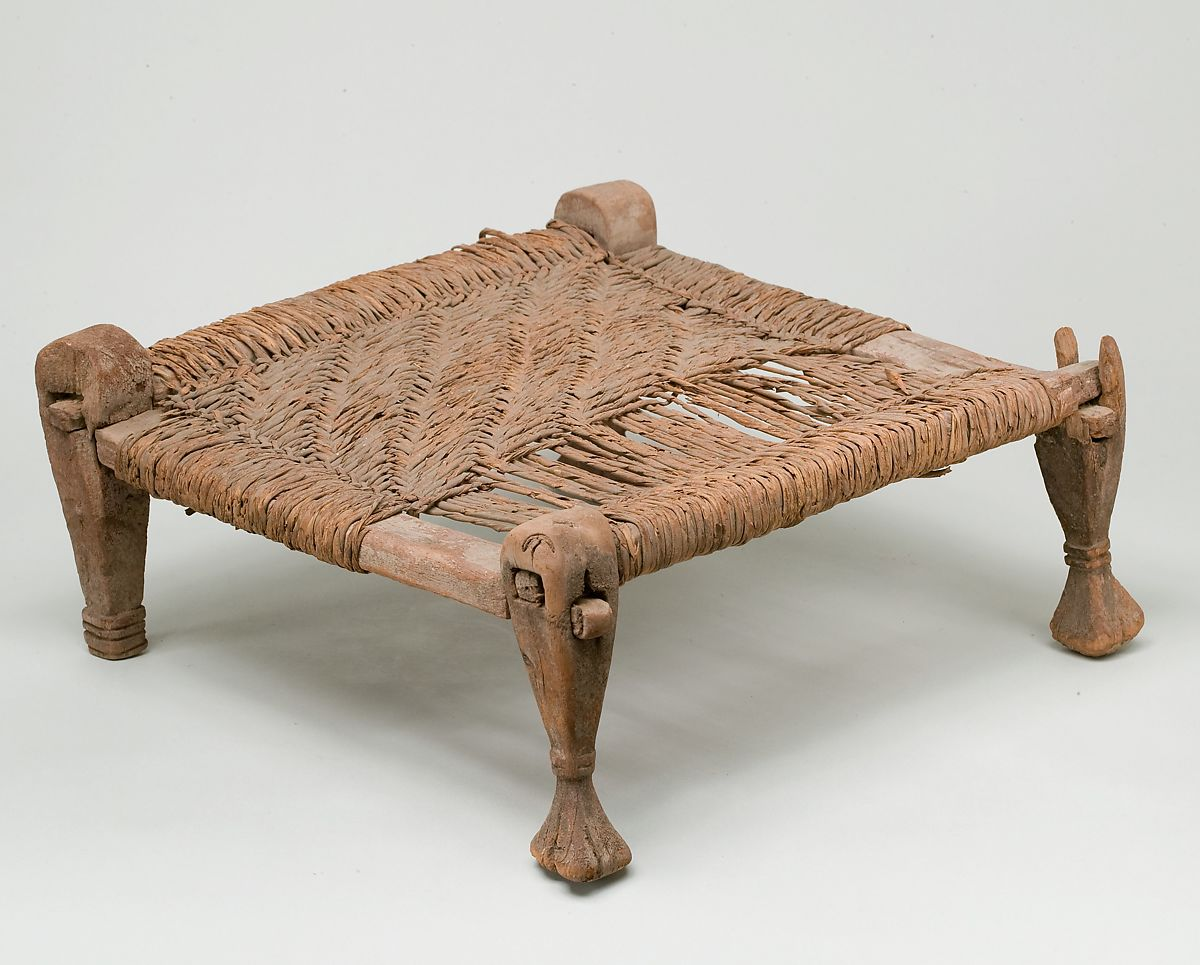 Stool with woven seat | Middle Kingdom–New Kingdom | The Met