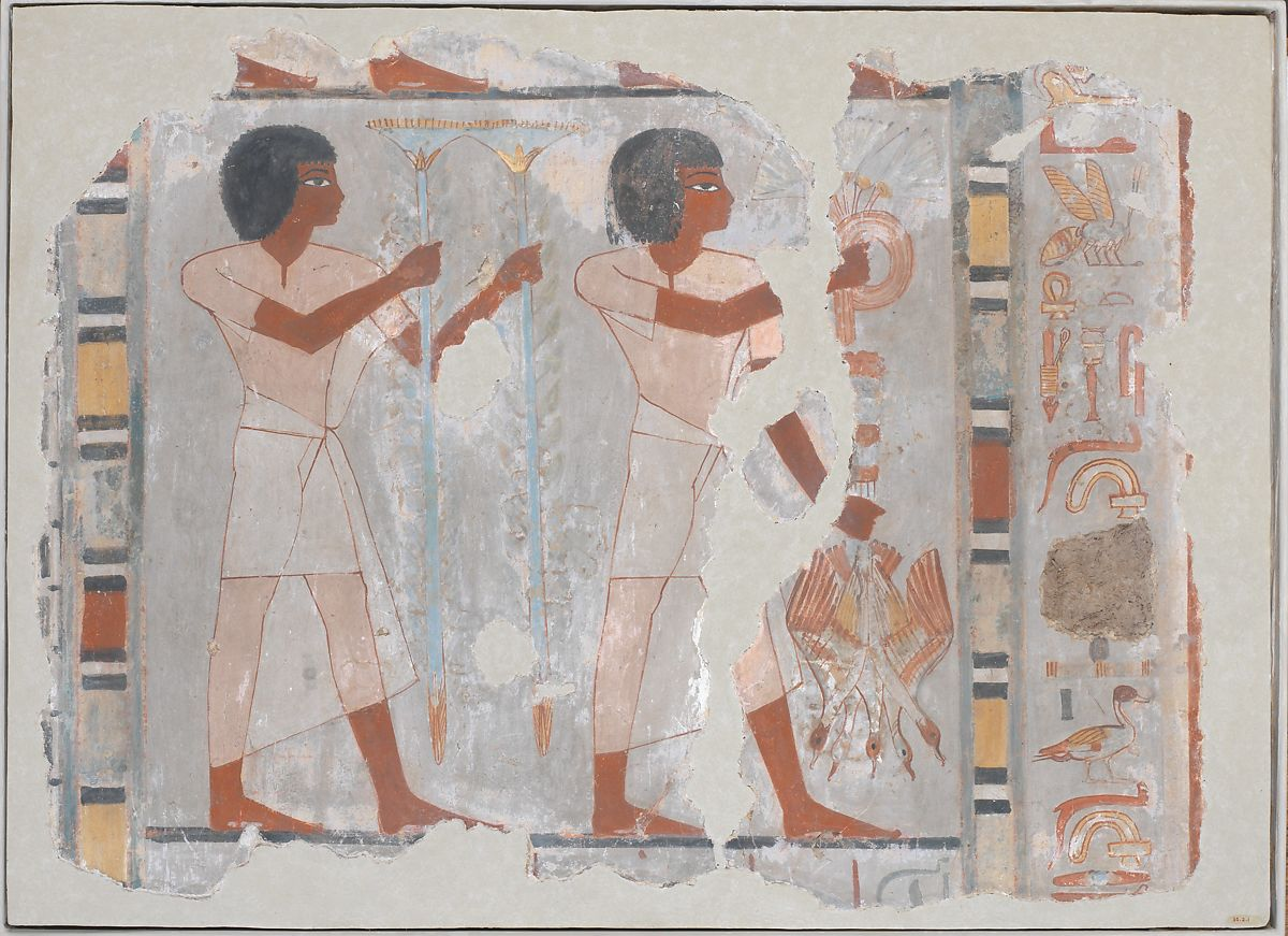 Fragment Of Wall Painting From The Tomb Of Sebekhotep New Kingdom