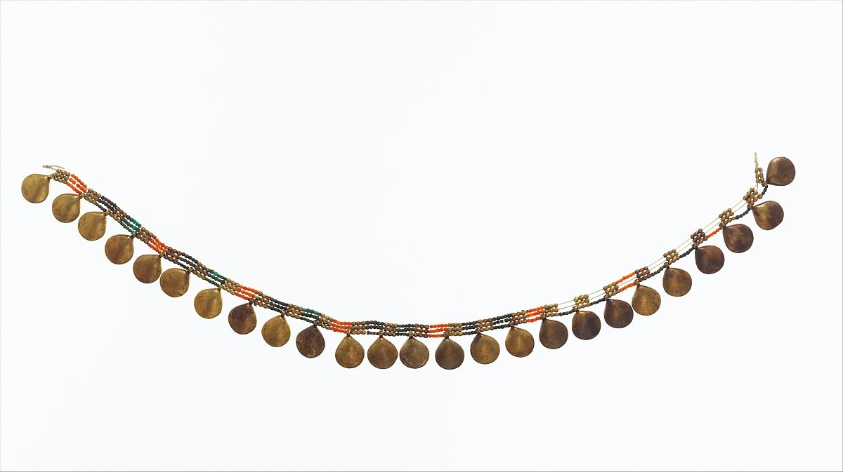 Necklace with shell pendants of senebtisi middle kingdom the met necklace with shell pendants of senebtisi gold faience carnelian turquoise aloadofball Choice Image