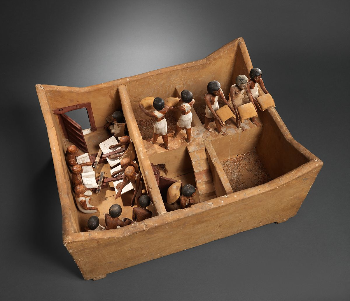 Model of a Granary with Scribes | Middle Kingdom | The Met