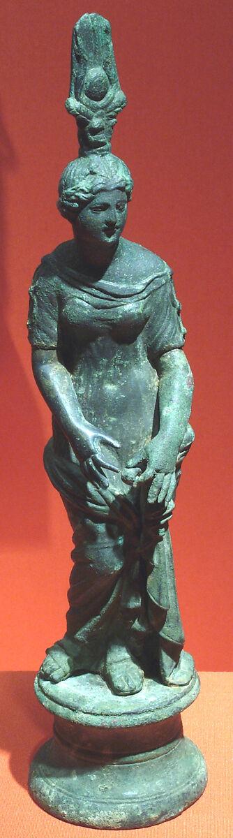 A ROMAN BRONZE ISIS-APHRODITE , CIRCA 1ST CENTURY B.C.-1ST