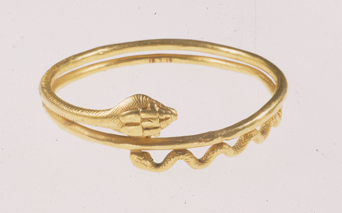 Snake Bracelet Roman Period The Met