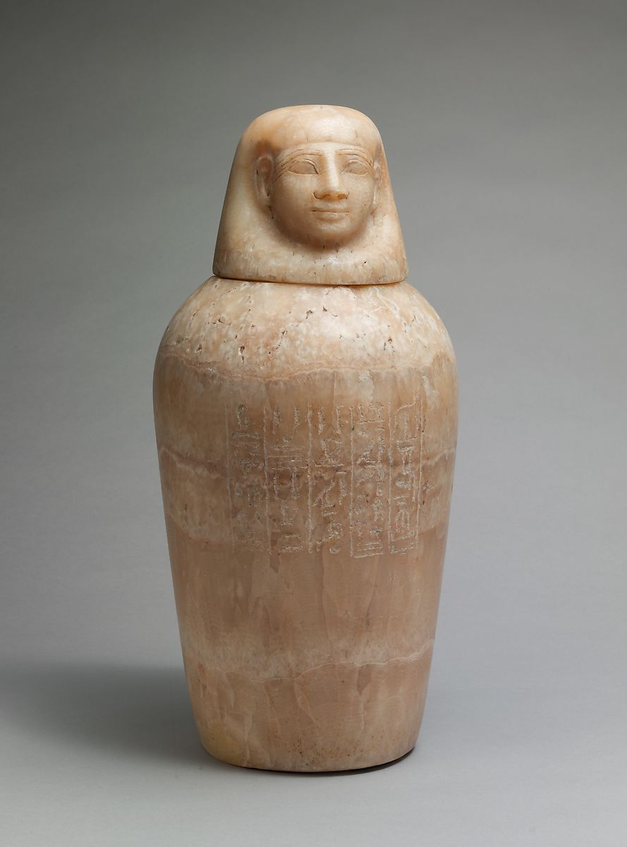 Canopic Jar Of Minmose New Kingdom The Met