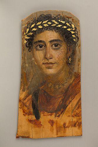 Mummy Portrait of a Woman, from Fayum, Romano-Egyptian