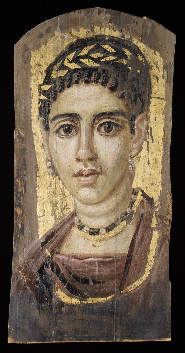 Portrait of a young woman with a gilded wreath | Roman Period | The Met