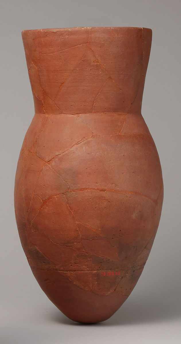 Jar from Tutankhamun's Embalming Cache, Pottery, hematite wash
