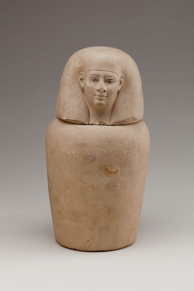 Egyptian alabaster canopic jar