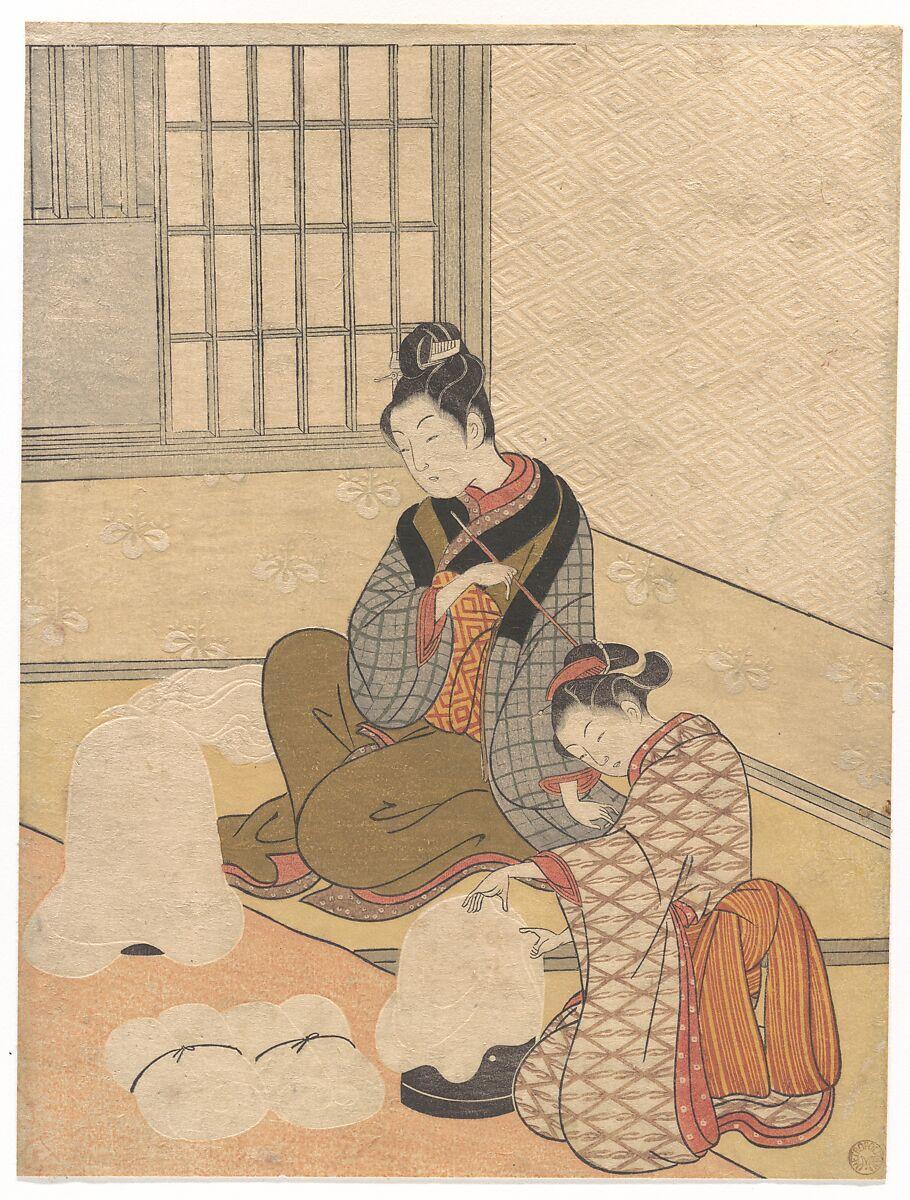 Suzuki Harunobu   Evening Snow on the Nurioke, from the series Eight Parlor Views   Japan   Edo period (1615–1868)   The Met