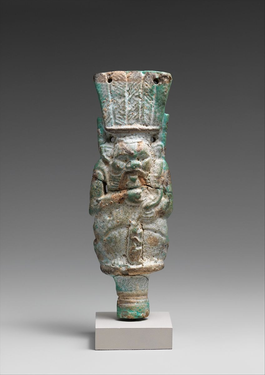 Bes with child on finial   Third Intermediate Period–Late Period   The Met