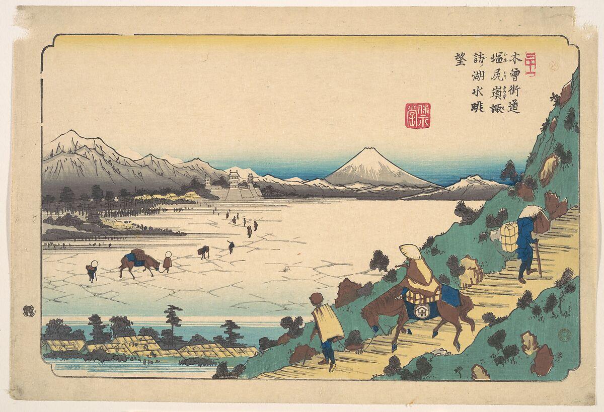 Keisai Eisen   Lake Suwa from Shiojiri Pass   Japan   Edo period (1615–1868)   The Met