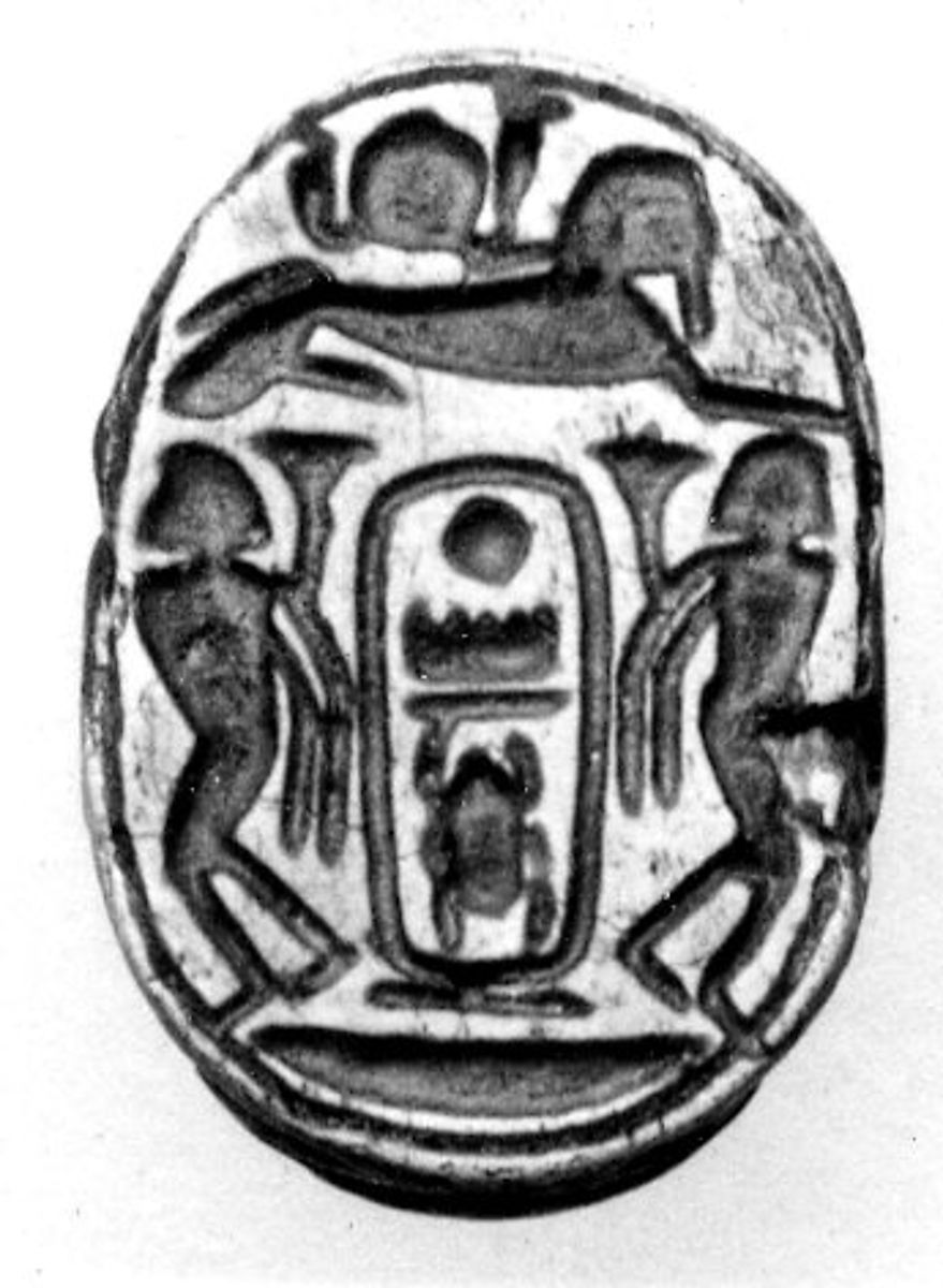 Scarab of Thutmose III, Glazed steatite