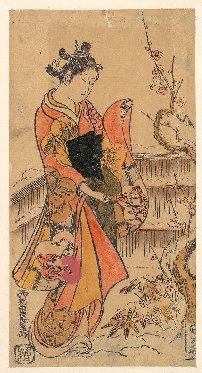 Shigenaga | A Young Lady in a Garden | Japan | Edo period (1615–1868 ...