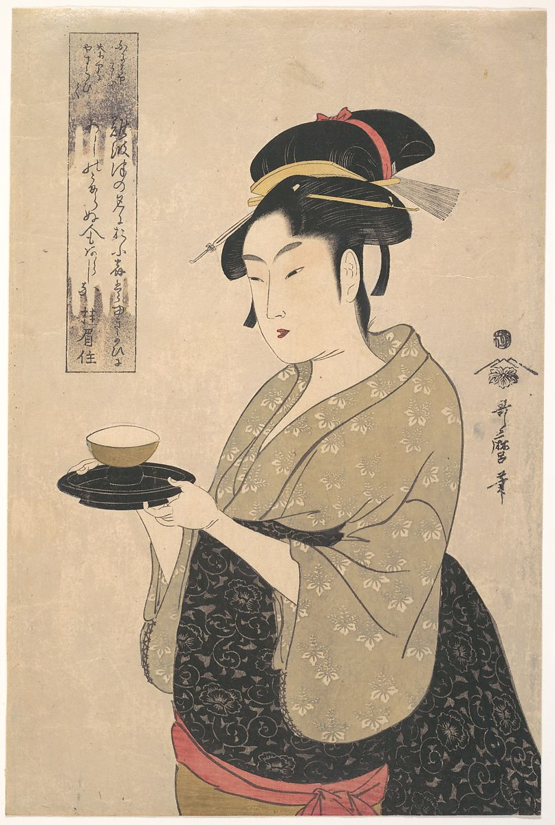 Kitagawa Utamaro | Okita of the Naniwa-ya Tea-house | Japan | Edo period (1615–1868) | The Met