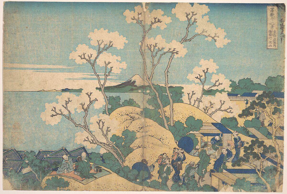 Katsushika Hokusai, Fuji from Gotenyama at Shinagawa on the Tōkaidō (Tōkaidō Shinagawa Gotenyama no Fuji), c. 1830-32, The Metropolitan Museum of Art, New York, NY, USA. mount fuji