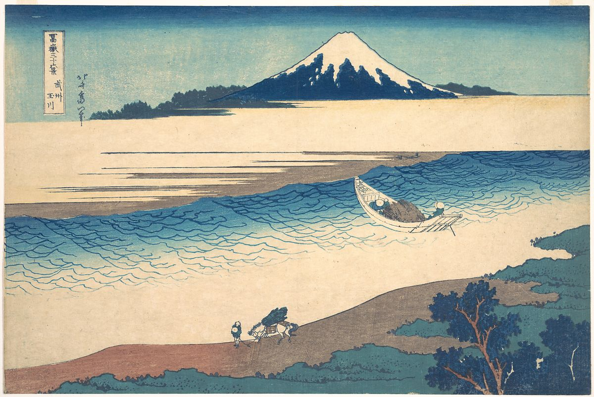 Katsushika Hokusai   Tama River in Musashi Province (Bushū Tamagawa), from the series Thirty-six Views of Mount Fuji (Fugaku sanjūrokkei)   Japan   Edo period (1615–1868)   The Met