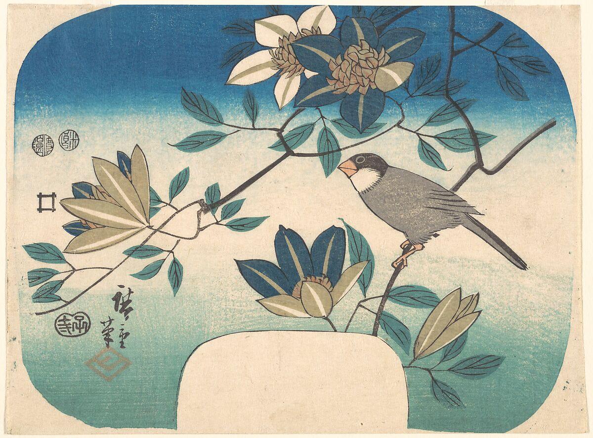 Utagawa Hiroshige | Clematis and Bird | Japan | Edo period (1615–1868) | The Met