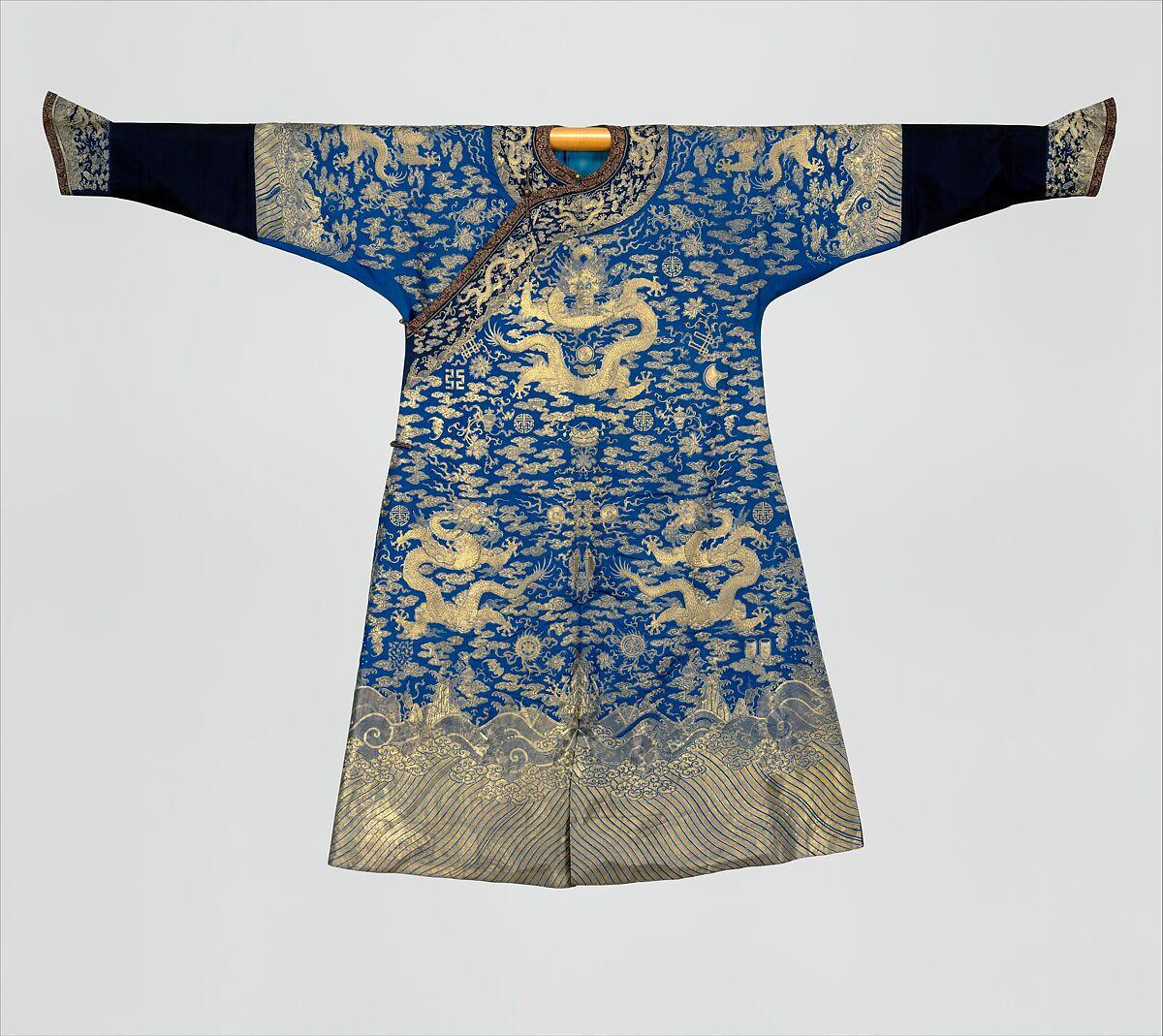 615d45f8d Emperor's twelve-symbol festival robe   China   Qing dynasty (1644 ...
