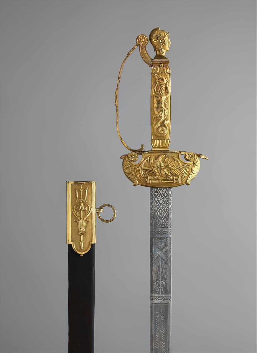 William Rose Sr., 1783–1856 | Congressional Presentation Sword and Scabbard of Peleg K. Dunham (1794–1822) | American | The Met