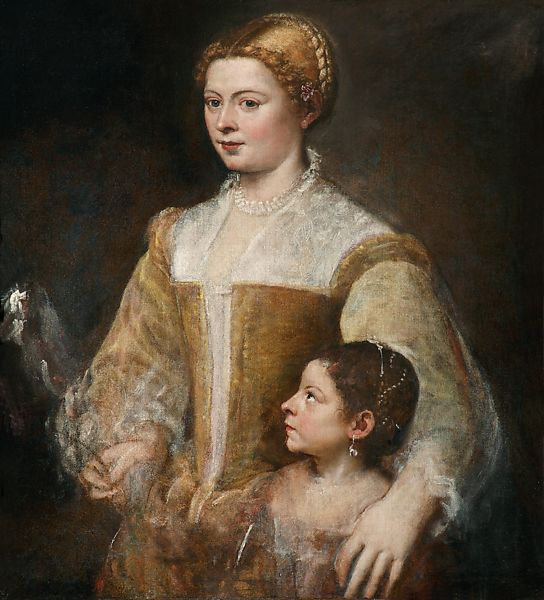 Image result for Titian's Portrait of a Lady and her Daughter