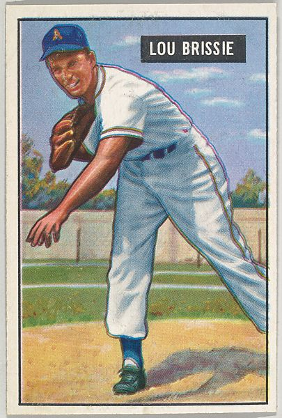 Issued By Bowman Gum Company Lou Brissie Pitcher