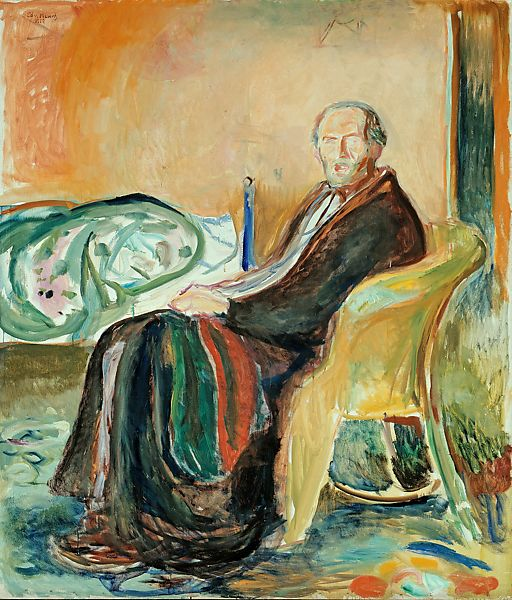 Edvard Munch, Self-Portrait with the Spanish Flu (1919).