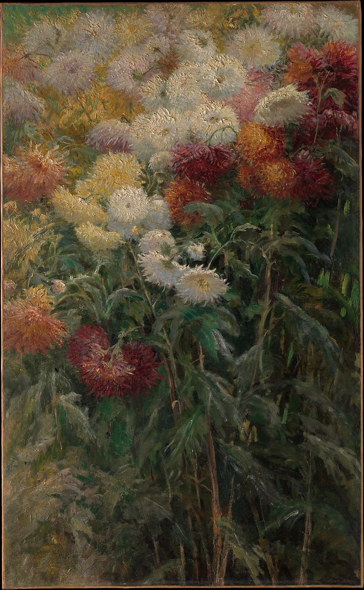 Gustave Caillebotte | Chrysanthemums in the Garden at ...
