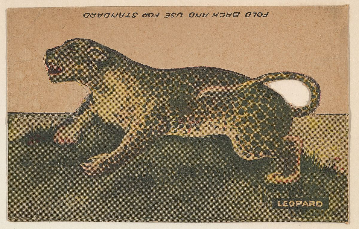 issued by r h wool steam bakery leopard collector card from the
