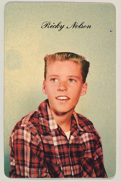 Issued by Tip Top Bakeries   Ricky Nelson, No. 4, bakery card from the  Television and Radio Stars series (D77), issued by Mother's Cookies   The  Metropolitan Museum of Art