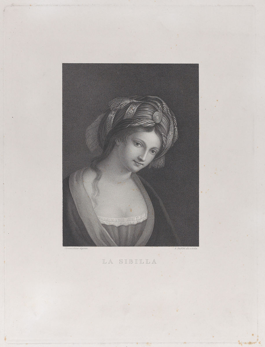 Antonio Perfetti | A sibyl, head and shoulders, wearing a turban | The Met