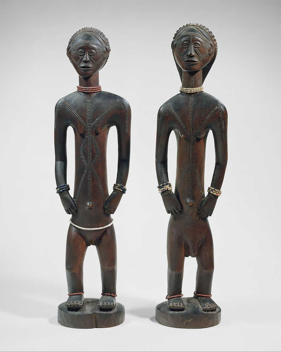 Interesting African art modified into a