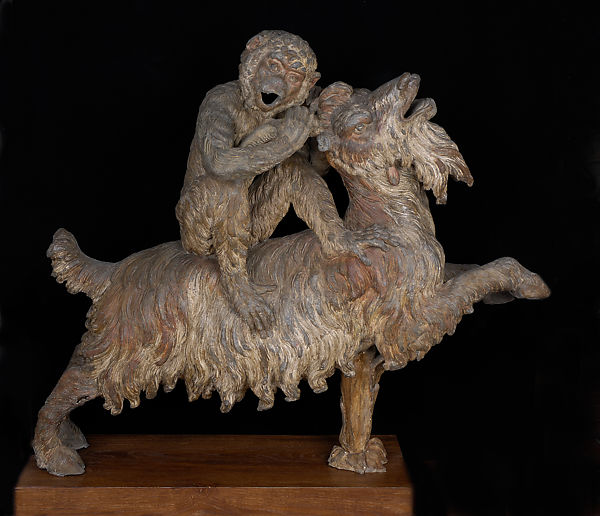 Pierre Le Gros the Elder | Monkey Riding a Goat | French
