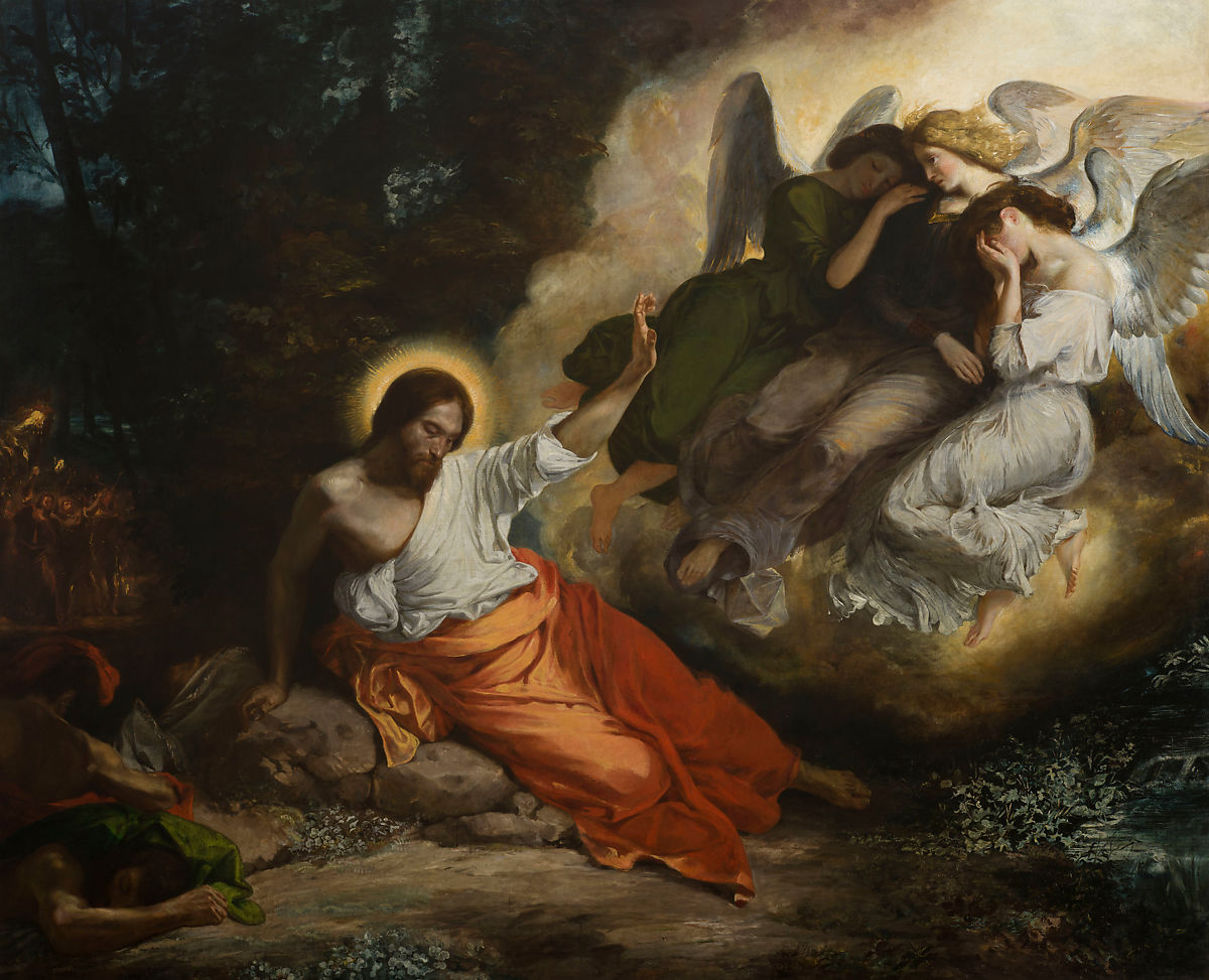 christ in the garden of olives the agony in the garden eugne delacroix - Agony In The Garden