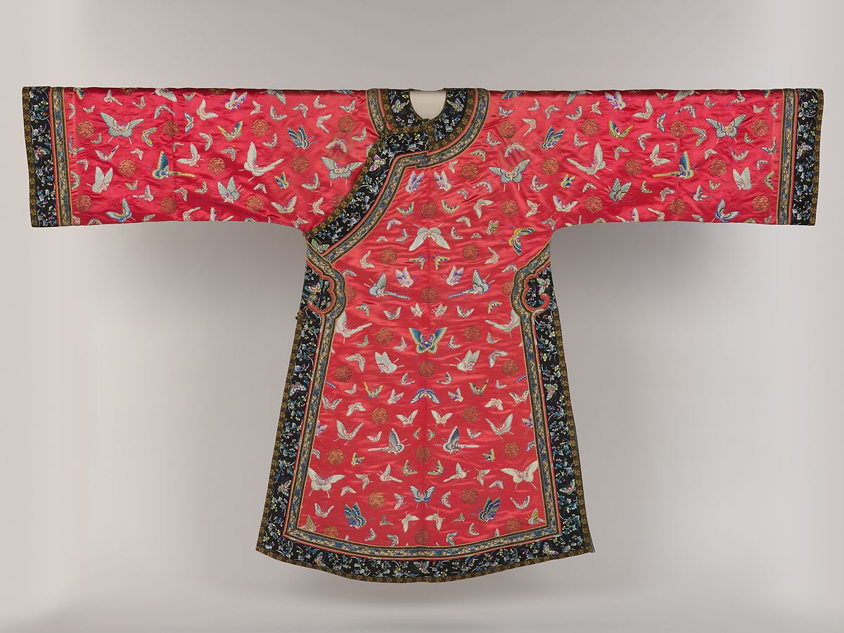 835bee9ff Woman's robe with butterflies   China   Qing dynasty (1644–1911 ...