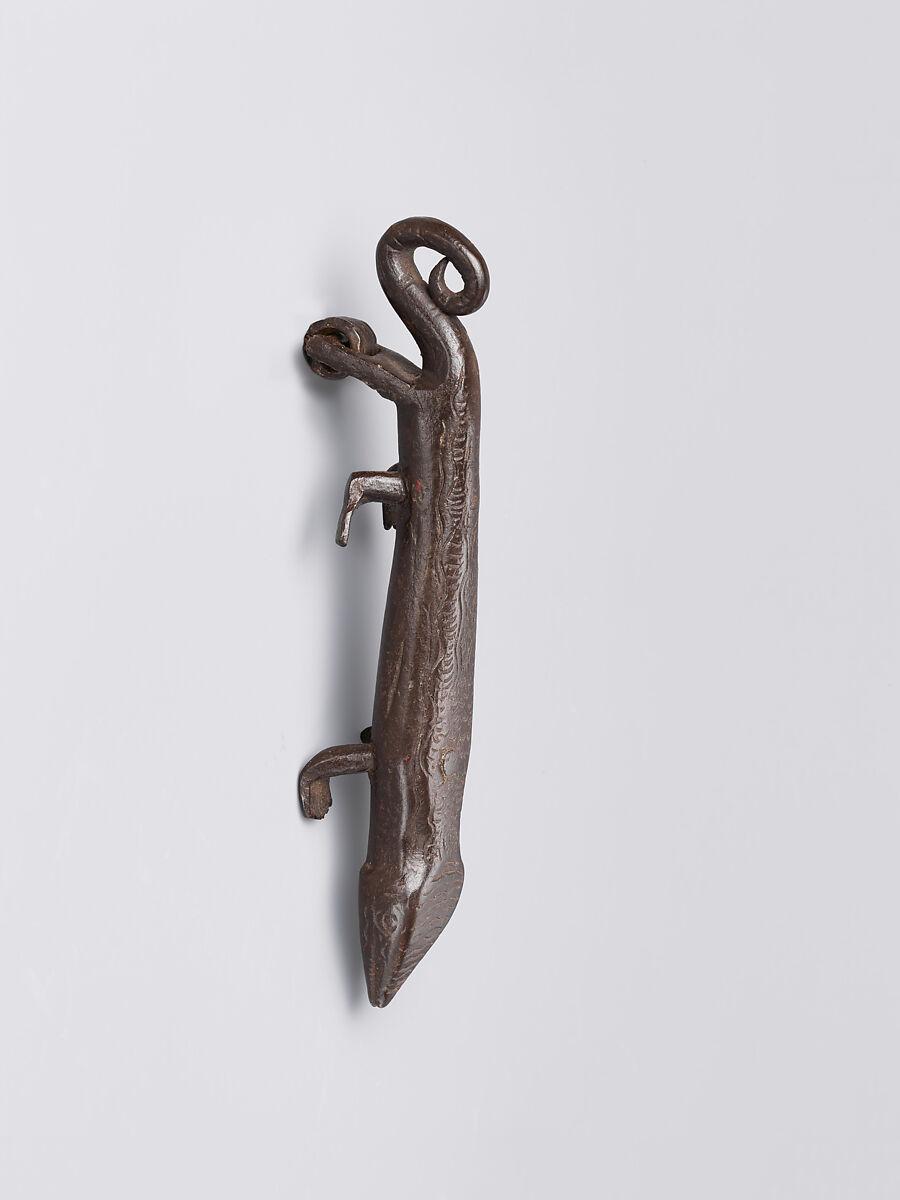 Door Knocker In The Shape Of A Salamander, Wrought Iron, Spanish