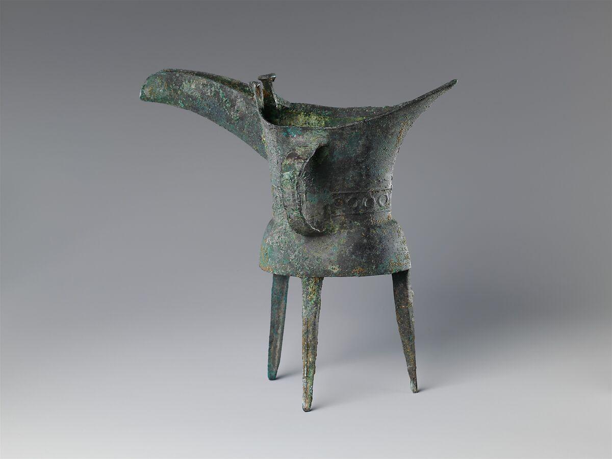 Wine Vessel (Jue) | China | Shang dynasty (ca. 1600–1046 B ...