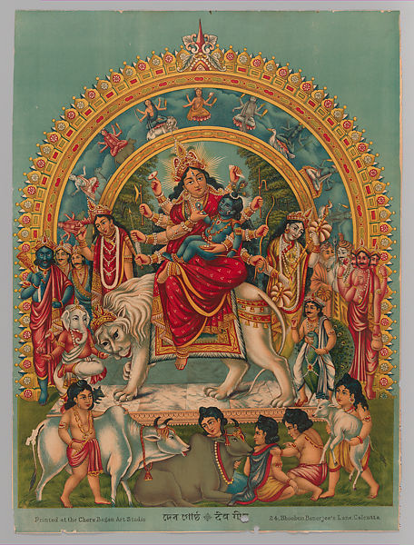 Durga holding the infant Krishna (Deva Gostha) | India | The Met