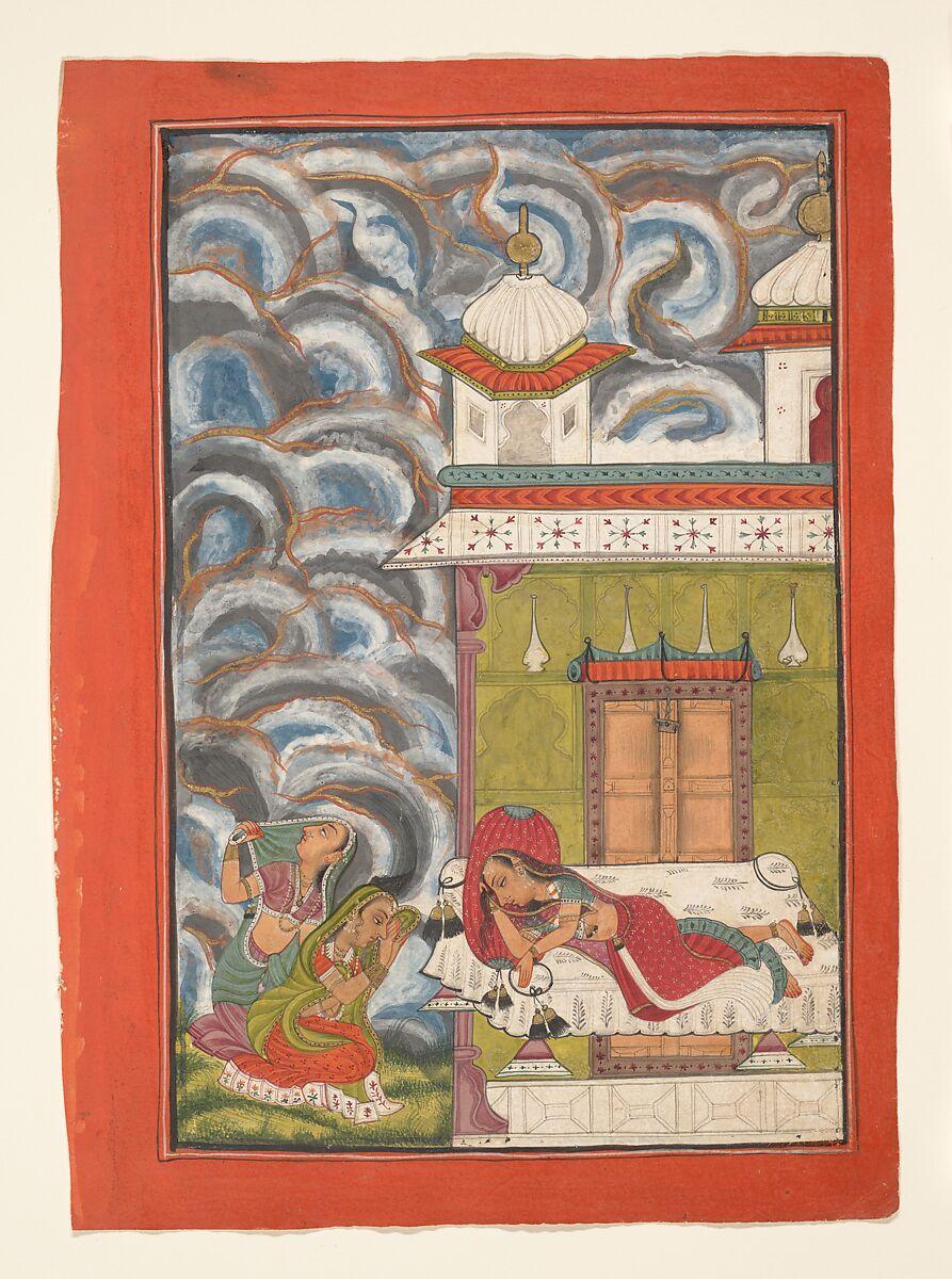 Andhrayaki Ragini: Folio from a ragamala series (Garland of Musical Modes) | India (Himachal Pradesh, Bilaspur) | The Met