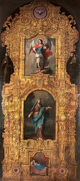 Attributed to Juan Patricio Morlete Ruiz | Painted Altarpiece of the Virgin of Sorrows (Retablo fingido de la Virgen de los Dolores) | Mexican | The Met