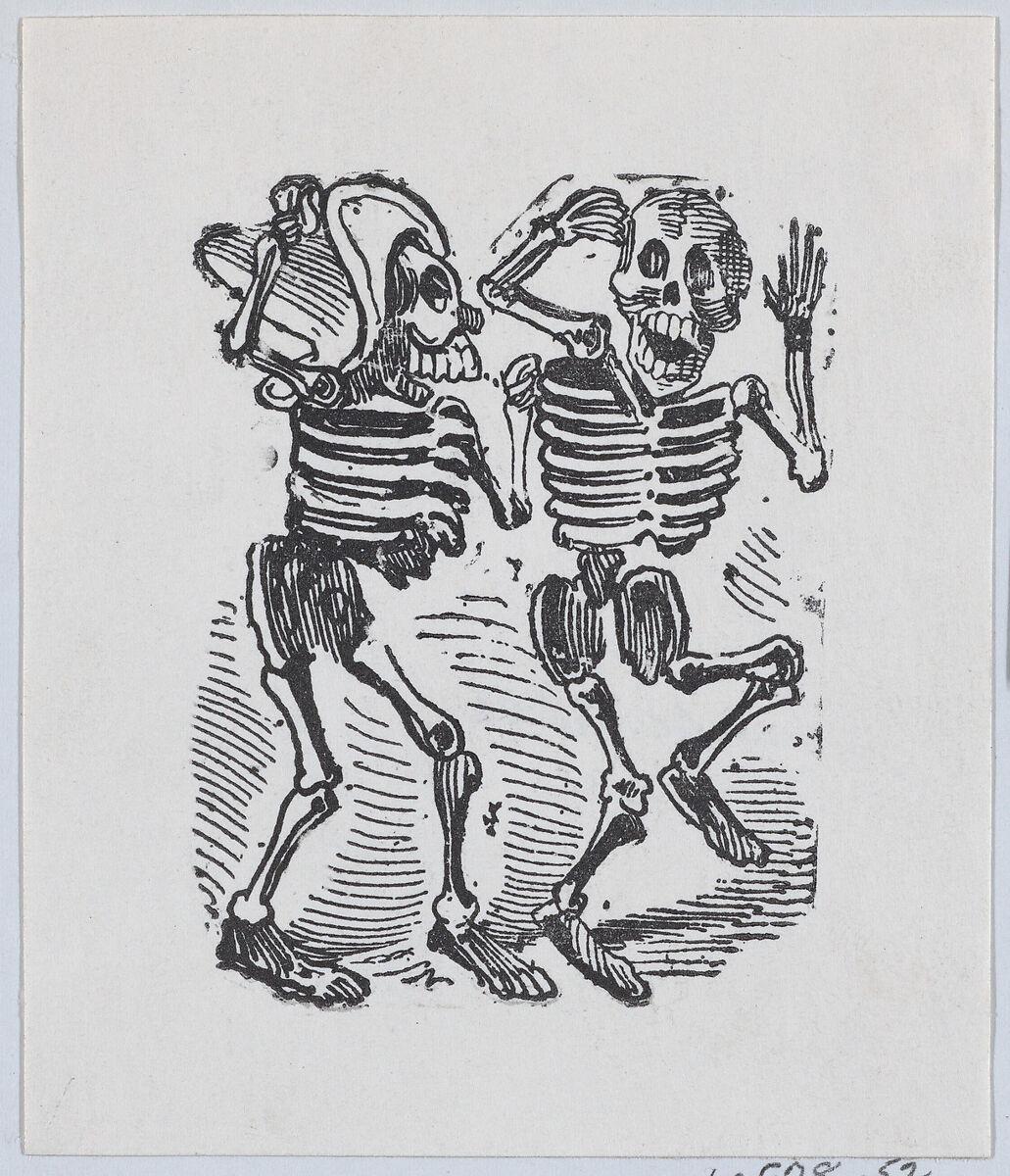 José Guadalupe Posada | Two skeletons smiling and dancing | The Met