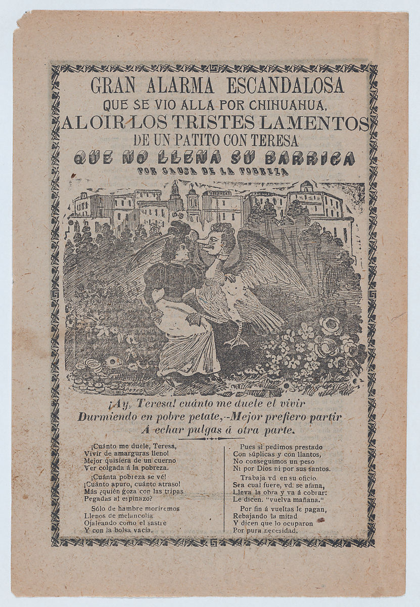 Jos guadalupe posada broadsheet with a ballad addressing poverty broadsheet with a ballad addressing poverty woman sitting in a field of flowers with a mightylinksfo