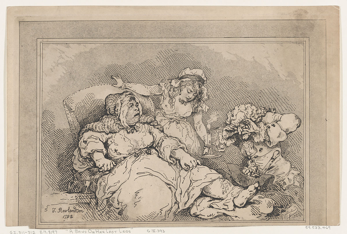Thomas Rowlandson | A Bawd on her Last Legs | The Metropolitan Museum of Art