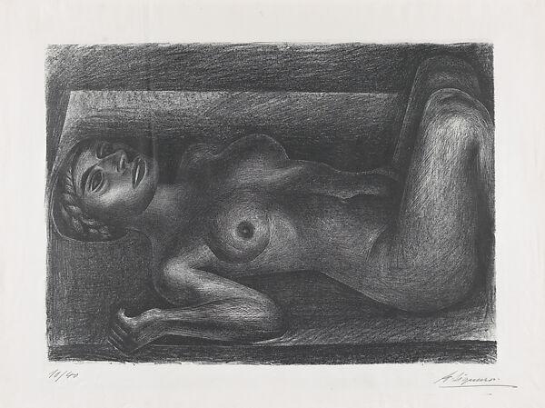 Metro art naked women David Alfaro Siqueiros A Naked Woman Laying Down Her Knees Raised The Metropolitan Museum Of Art