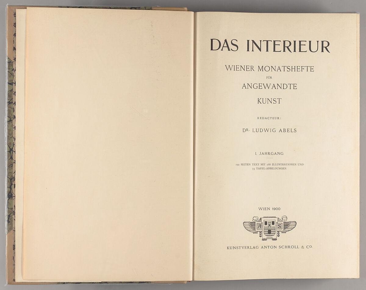 Ludwig Abels | Das Interieur (1900) | The Met